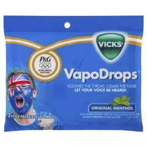 Vicks Vapodrops Throat Lozenges Menthol