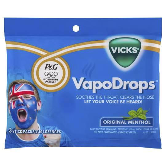 Vicks Vapodrops Throat Lozenges Menthol