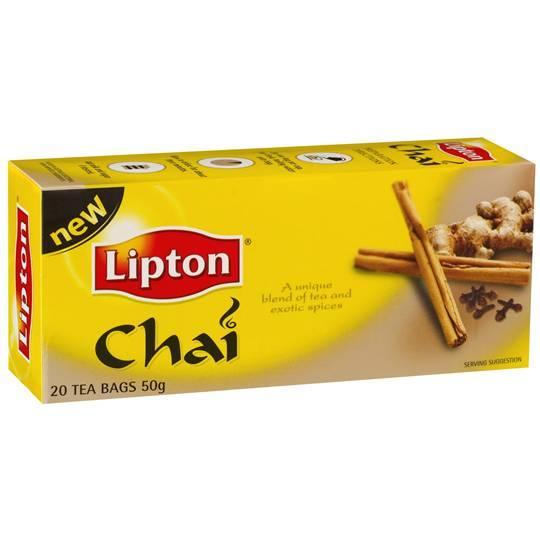 Lipton Flavoured Tea Bags Chai