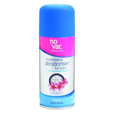 Stef reviewed No Vac Auto Foam Car Care Fabric Deodoriser Frangipani