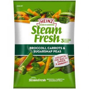 Heinz Steam Fresh Broccoli Carrot Snap Pea