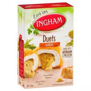 Ingham Crumbed Chicken Duet Alfredo Cheese