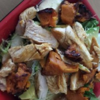 Honey chicken and roast pumpkin salad