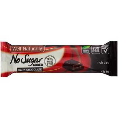 Well Naturally Bars Choc Rich Dark Sugar Free
