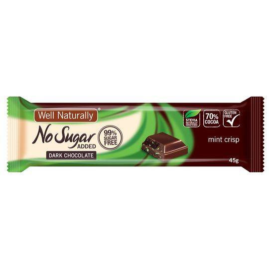 Well Naturally No Sugar Added Choc Mint Crisp Bar