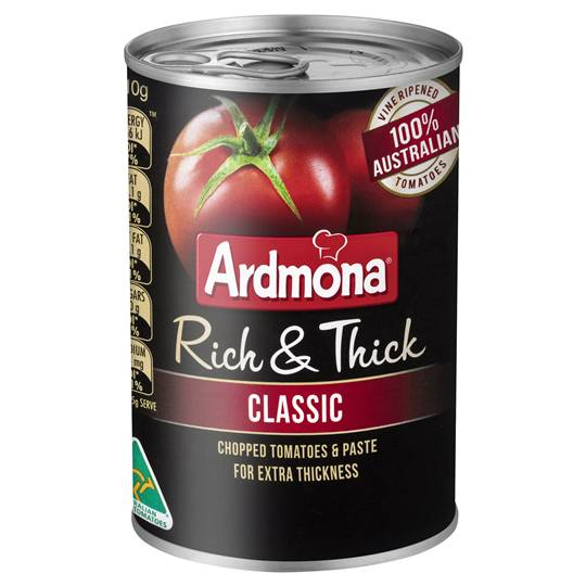 Ardmona Rich & Thick Classic Finely Chopped Tomatoes