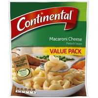 Continental Value Pack Pasta & Sauce Macaroni Cheese
