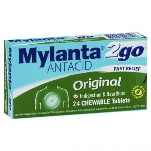 Mylanta 2go Antacids Original Chewable Tablets
