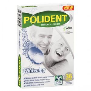 Polident Denture Care Cleanser Tablets Whitening