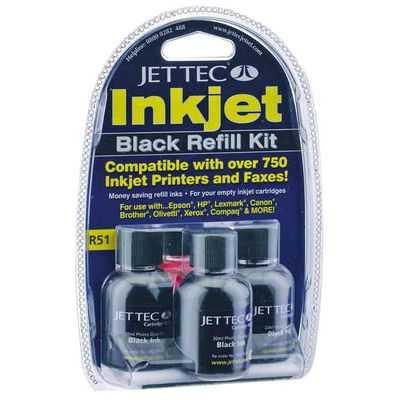 Jet Tec Inkjet Pen Refill Black