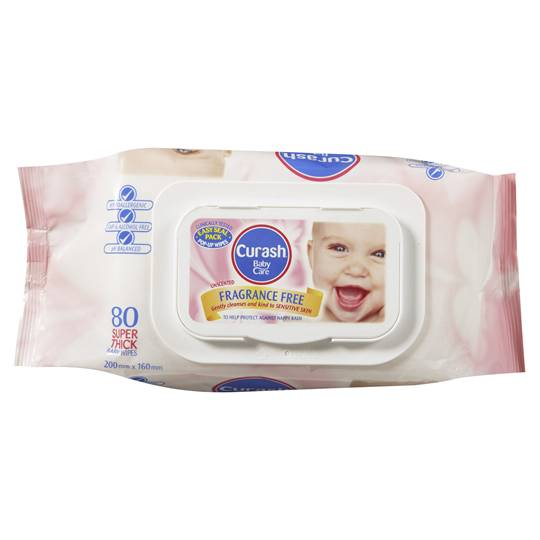 Curash Wipes Fragrance Free Cloth