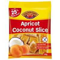Golden Days Fruit Apricot Coconut Slice