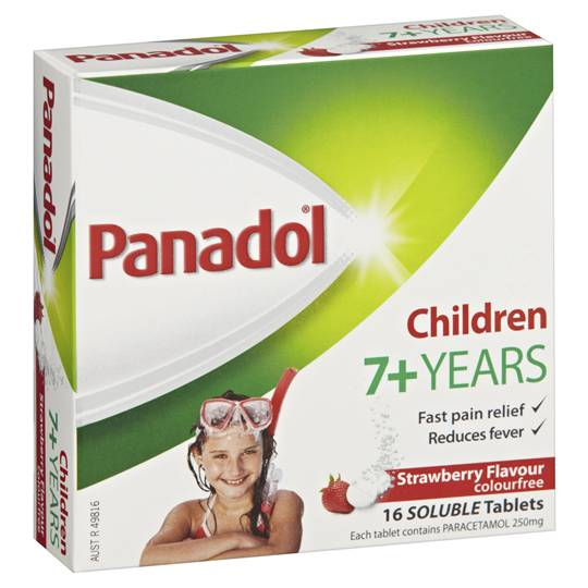 Panadol Soluble Childrens 7+