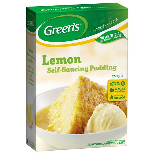 Greens Pudding Lemon Sponge