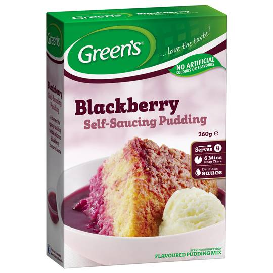 Greens Pudding Blackberry Sponge