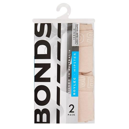 Bonds Womens Underwear Hipster Boyleg Size 12