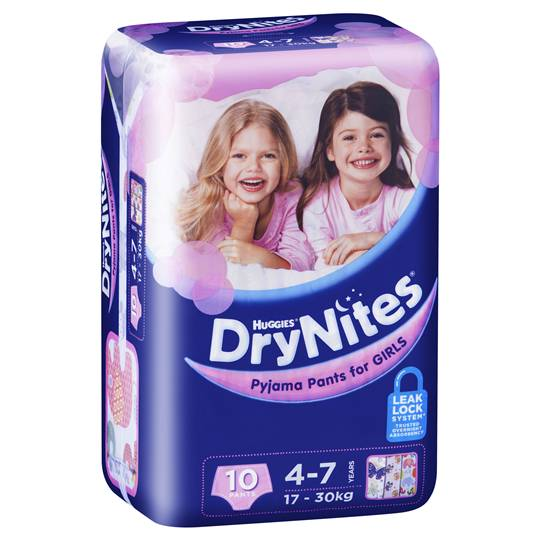 Huggies Drynites Pyjama Pants Girl 4-7yrs
