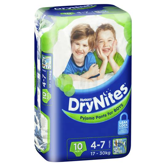 Huggies Drynites Pyjama Pants Boys 4-7yrs