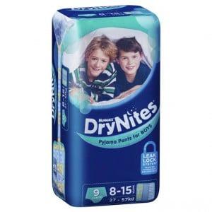 Huggies Drynites Pyjama Pants Boy 8-15 Yrs