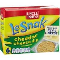 mom70876 reviewed Uncle Tobys Le Snak Cheddar Cheese Dip