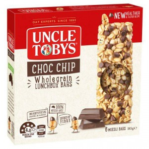Uncle Tobys Chewy Choc Chip Bars