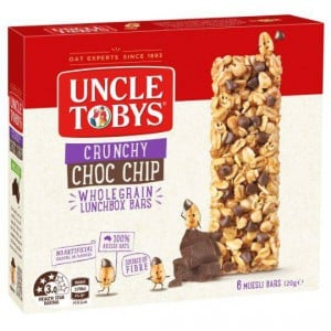 Uncle Tobys Crunchy Choc Chip Bars