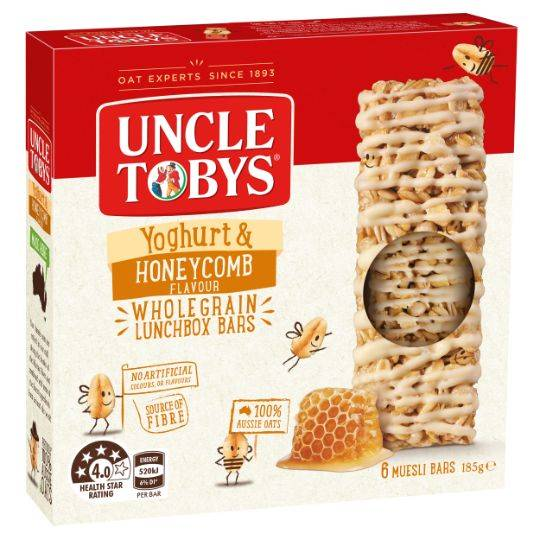 Uncle Tobys Yoghurt Topps Honeycomb