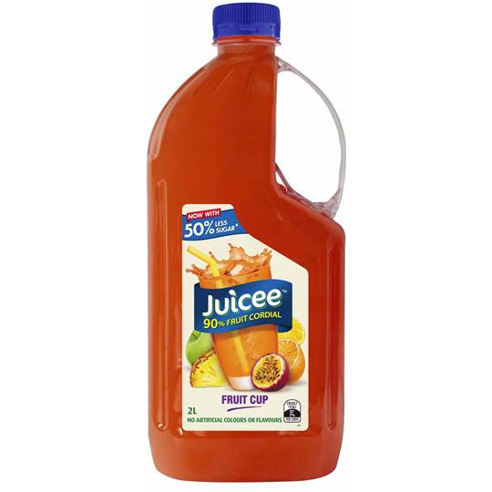 Juicee 90% Fruit Cordial Fruit Cup