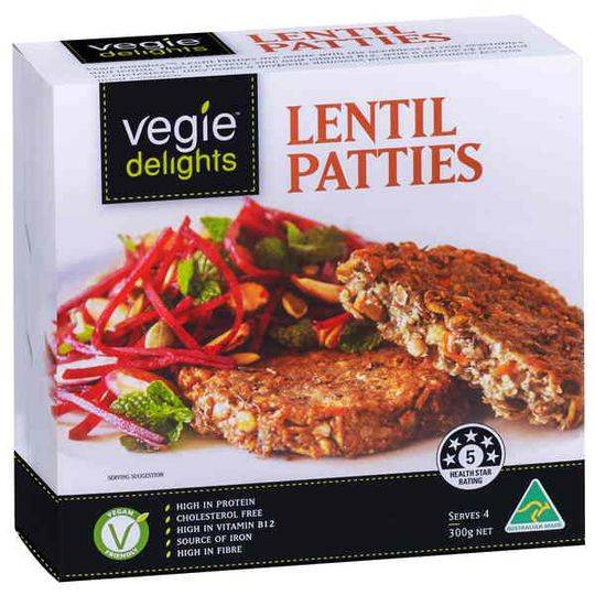 Sanitarium Vegie Delights Lentil Patties
