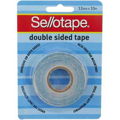Sellotape Tape Double Sided 12mmx10mm