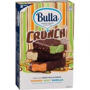Bulla Crunch Ice Cream Orange Mint Vanilla