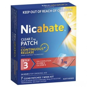 Nicabate Quit Smoking Patches Clear Step 3
