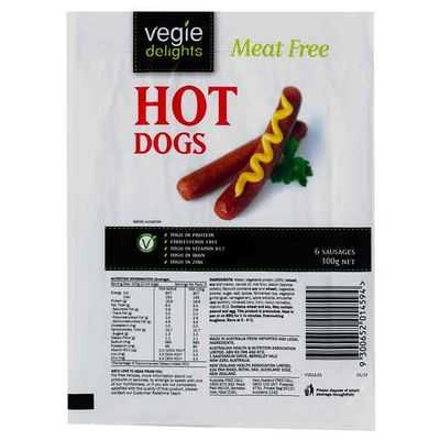 Sanitarium Vegie Delights Hot Dog