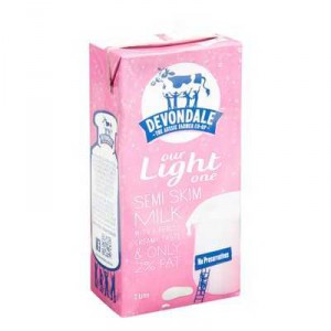 Devondale Semi Skim Long Life Milk