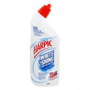 Harpic White & Shine Toilet Cleaner Bleach Gel Fresh