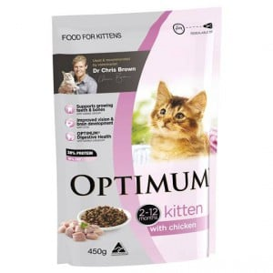 Optimum Kitten Food With Real Chicken
