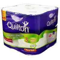 Quilton Double Length Toilet Tissue 3 Ply Prints 360 Sheets