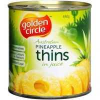Golden Circle Pineapple Thins In Natural Juice