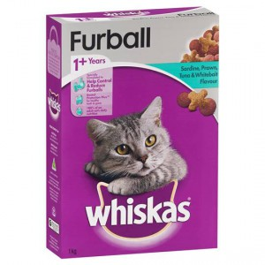 Whiskas Adult Cat Food Furball Sardine Prawn Tuna