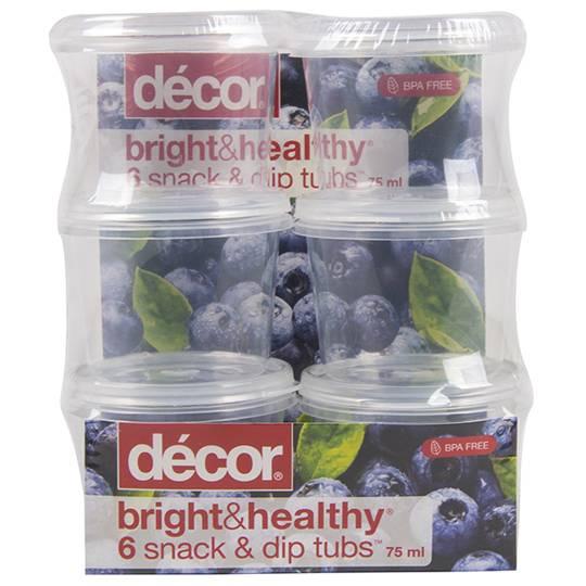 Decor Bright & Healthy Dressing Tubs