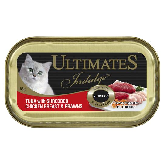 Ultimates Indulge Adult Cat Food Tuna Chicken Breast & Prawns
