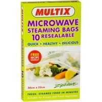 Multix Microwave Steaming Oven Bags Resealable 20cmx20cm