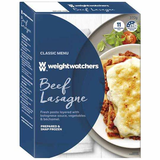 Weight Watchers Lasagne Beef Large Serve