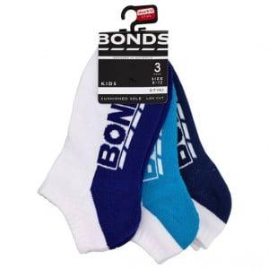 Bonds Kids Socks Lowcut Logo 9 - 12
