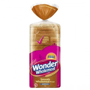 Wonder White Wholemeal With Iron Sandwich Slice