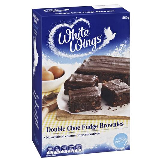 White Wings Brownie Mix Double Chocolate Fudge