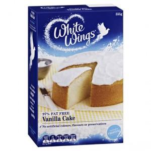 White Wings Cake Mix 97% Fat Free Vanilla Cake