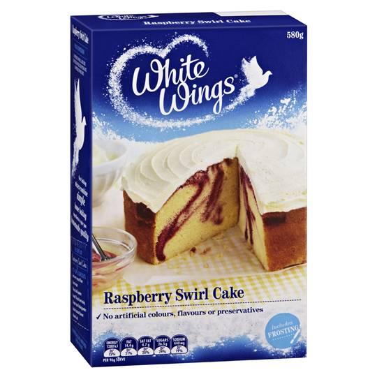 White Wings Cake Mix Raspberry Swirl Cake
