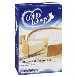 White Wings Cake Mix Smooth Continental Cheesecake