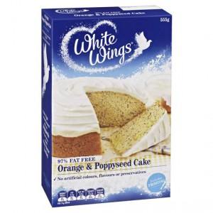 White Wings Cake Mix Orange & Poppyseed